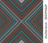 seamless dark ethnic texture.... | Shutterstock .eps vector #383494669