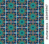 seamless pattern. vintage... | Shutterstock .eps vector #383495947