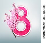 vector 8 march greeting card...   Shutterstock .eps vector #383500681