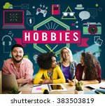 hobbies activity amusement free ...   Shutterstock . vector #383503819