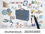 business portfolio stock... | Shutterstock . vector #383503885