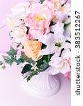 flower vase on lilac background | Shutterstock . vector #383512267