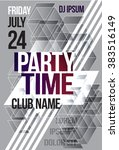 black and white abstract flyer... | Shutterstock .eps vector #383516149