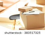 delivery concept. group of... | Shutterstock . vector #383517325