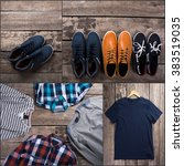 collage of men's clothes | Shutterstock . vector #383519035