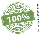 vegetarian ingredients 100... | Shutterstock .eps vector #383522179