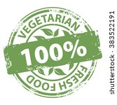 vegetarian fresh food 100... | Shutterstock .eps vector #383522191