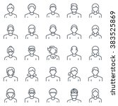 employee  office people avatars ... | Shutterstock .eps vector #383525869