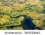 aerial view of rivers  streams... | Shutterstock . vector #383528461