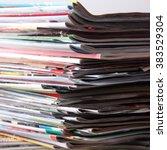 newspapers | Shutterstock . vector #383529304
