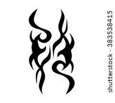 tribal tattoo vector design... | Shutterstock .eps vector #383538415