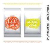 plastic  vegetarian and raw... | Shutterstock .eps vector #383539861