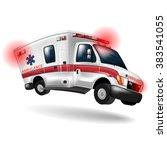ambulance speeding  vector... | Shutterstock .eps vector #383541055