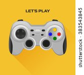 wireless grey gamepad with long ...