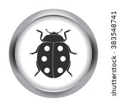 lucky ladybug simple icon  on... | Shutterstock .eps vector #383548741