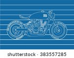 hand drawn vintage custom... | Shutterstock .eps vector #383557285