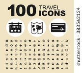 Travel and tourism icons. Holiday pictogram. Transport vector graphic. Summer design collection.
