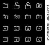 vector line folder icon set. | Shutterstock .eps vector #383562445