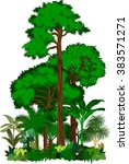 rainforest vector illustration. ... | Shutterstock .eps vector #383571271