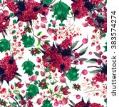 watercolor seamless floral...   Shutterstock . vector #383574274