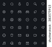 outline vector icons for web... | Shutterstock .eps vector #383575915
