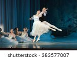 Small photo of DNIPROPETROVSK, UKRAINE - FEBUARY 28, 2016: Sylphs (Shopeniana) ballet performed by Dnepropetrovsk Opera and Ballet Theatre ballet.