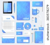 blue set of vector corporate... | Shutterstock .eps vector #383578279
