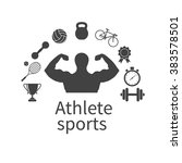 athlete sports. concept of the... | Shutterstock .eps vector #383578501