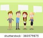 vector illustration of business ... | Shutterstock .eps vector #383579875