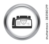 office fax simple icon on round ... | Shutterstock .eps vector #383580199