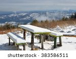 Two Old Wooden Benches And A...