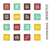 travel web icons set | Shutterstock .eps vector #383587915