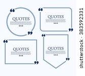 quote . template vector set | Shutterstock .eps vector #383592331