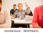 group of people of different... | Shutterstock . vector #383596651
