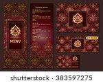 vector illustration of a menu... | Shutterstock .eps vector #383597275