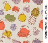 seamless colorful fruits pattern | Shutterstock .eps vector #383598481
