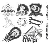 Vector Set Of Auto Service...
