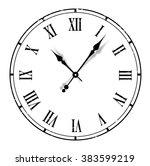 grunge old vintage clock white... | Shutterstock . vector #383599219
