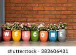 flower welcome | Shutterstock . vector #383606431