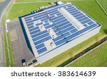 aerial of a photovoltaic power... | Shutterstock . vector #383614639