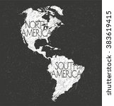 north and south america map... | Shutterstock .eps vector #383619415