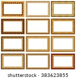collection of golden picture... | Shutterstock . vector #383623855