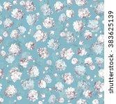 vintage floral seamless pattern ... | Shutterstock .eps vector #383625139