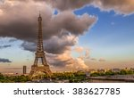 The Eiffel Tower With Dramatic...