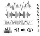 vector sound waveforms. sound... | Shutterstock .eps vector #383634505