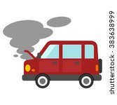 failure of the automobile | Shutterstock .eps vector #383638999