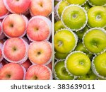 Pink Red Apples And Green...