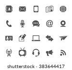 set of communication vector... | Shutterstock .eps vector #383644417