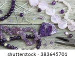 bead making accessories | Shutterstock . vector #383645701