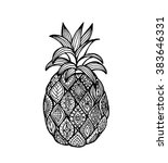 vector of pineapple in... | Shutterstock .eps vector #383646331